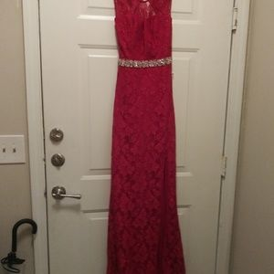 Formal red gown by Jodi Kristopher